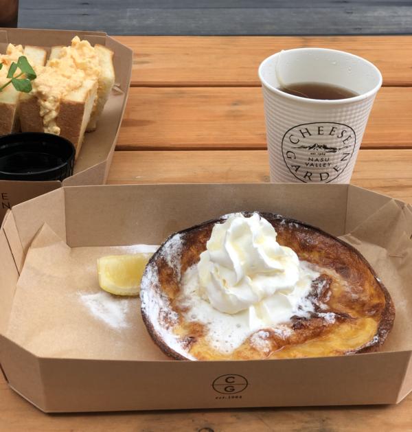 チーズガーデン那須本店カフェのダッチベイビー