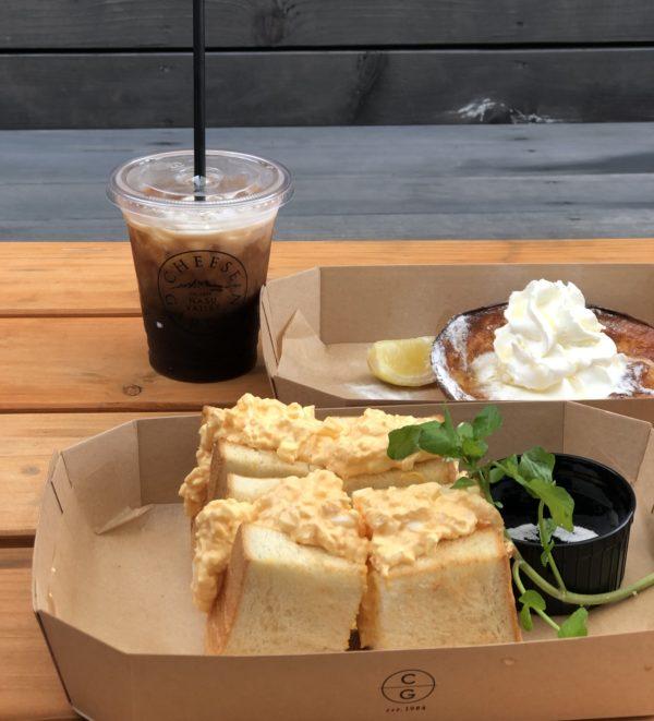 チーズガーデン那須本店カフェの卵サンド